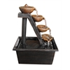 Benzara Four Tiered Step Tabletop Fountain