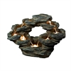 22 Inch Tiered Rock Cascading Fountain With Led Lights