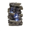 Waterfall Tabletop Fountain With White Led Lights