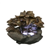 10 Inch Cascading Leaf Tabletop Fountain With Led Lights