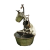 28 Inch Metal Tiered Garden Tools Fountain