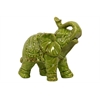 Ceramic Trumpeting Standing Elephant - Yellow Green