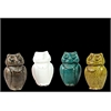 Ceramic Owl Assortment Of Four Assorted Color