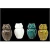Ceramic Owl Assortment Of Four Assorted Color