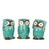 Ceramic Owl No Evil Assortment Of Three