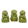 Benzara Ceramic Monkey No Evil Assortment Of Three
