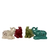 Ceramic Sitting Elephant Assortment Of Four Assorted Color