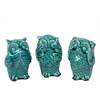 Benzara Stupendous Ceramic Owl Assortment Of Three