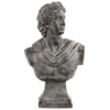 Benzara Fiberstone Greek Deity Apollo Bust On A Pedestal