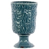 Large Ceramic Vase Hammered Design - Turquoise
