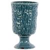 Large Ceramic Vase Hammered Design - Turquoise