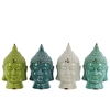 Benzara Ceramic Buddha Head Assortment Of Four Assorted Color