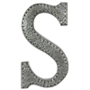 "Metal Wall Decor Letter ""S"" With Rivets - Gray"