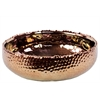 Benzara Vintage Dent Designed Ceramic Pot With Copper Look
