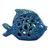 Benzara Ceramic Fish - Turquoise