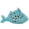 Benzara Fascinating Ceramic Fish - Turquoise