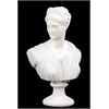 Benzara Classical Themed Cement Woman Statue In White