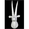 Benzara Porcelain Wall Mount Antelope Head