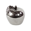 Benzara Ceramic Apple Large Chrome Silver