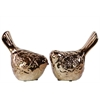 Ceramic Bird Set Of Two Bronze