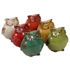 Ceramic Owl Assortment Of Six - Assorted Color