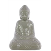 Ceramic Meditating Buddha In Dhyana Mudra - Grey