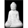 Ceramic Meditating Buddha In Dhyana Mudra - White