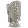 Benzara Ceramic Buddha Head Vase - Gray