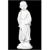 Benzara Ceramic Large Standing Buddha Distressed White