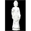 Ceramic Large Standing Buddha In Varada Mudra Distressed White