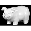 Benzara Ceramic Pig Gloss White