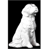 Ceramic Sitting Golden Retriever Dog Gloss White