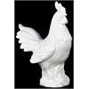 Ceramic Rooster Gloss White - White