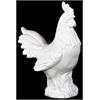 Ceramic Rooster Gloss White - White