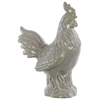 Benzara Ceramic Chicken Gloss Light Gray