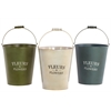 "9"" Assorted Set Of Three Bucket Metal Planters - Multi"