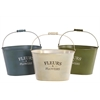 "11"" Assorted Set Of Three Bucket Metal Planters - Multi"