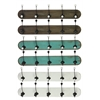 Benzara Well-Made Assortment Of 6 Large Assorted Wood Coat Hangers