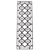 Benzara Elegantly Crafted Crisscross Pattern Metal Plaque