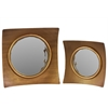 Benzara Lexington's Attractive Metal Mirror Set Of Two