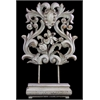 Benzara Magnificent & Majestic Floral Design Wooden & Resin Art Decor