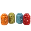 Assortment Set Of Four Ceramic Antique Lantern With Unique Design