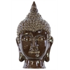 Ceramic Buddha Head Decor - Dark Chocolate