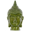 Ceramic Buddha Head Decor - Olive Drab