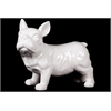 Ceramic Standing French Bulldog With Pricked Ears - White