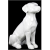 Ceramic Sitting Polish Hound Dog Gloss White