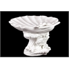Benzara Beautiful & Mesmerizing Ceramic Seashell Platter In White
