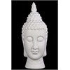 Compulsive & Spiritual Ceramic Buddha Head In White