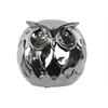 Benzara Wonderful Ceramic Owl Large Chrome