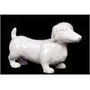 Finely Sculpted Lovely & Adorable Ceramic Datsun Dog In White